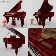 Рояль в стиле барокко