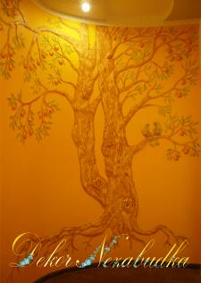 Дерево с птицами - лепка