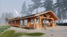 Моделирование дома-бани из бруса в SketchUp