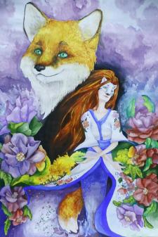 Иллюстрация Женщина-Лиса