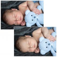 Обработка съемки новорожденных