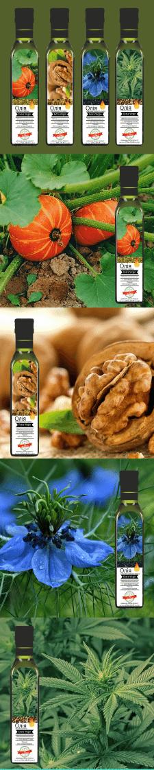Дизайн этикетки растительное масло