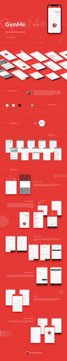 Gym Me. Sports mobile app | UI/UX