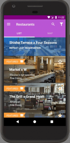 Table reservation app