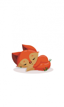 Мультяшный лисёнок