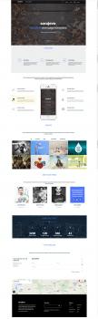 Пример вёрстки сайта на Bootstrap3
