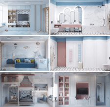 Children's room and bathroom | Boy and Girl