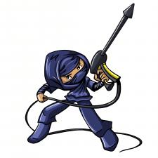 Ninja_cleaner (vecktor sketch for contest)