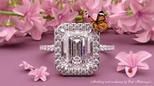 Engagement ring rendering.