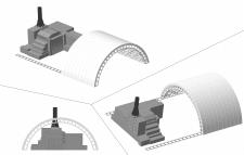 Макет реактора и нового саркофага ЧАЭС