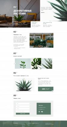 Лендинг Декоративные растения