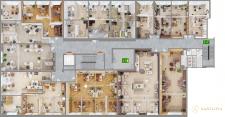 Визуализация планировки офисное помещение Израиль