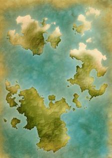 Старинная карта, фэнтези