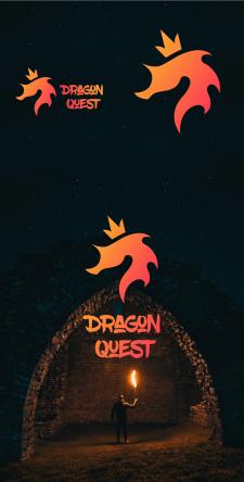 "Логотип для квеста ""Dragon Quest"""
