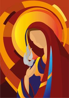 Марія та голуб