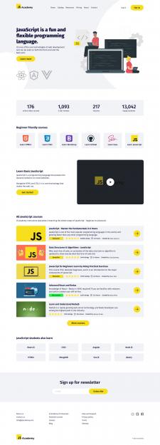 Дизайн для JS Academy