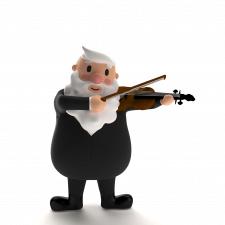 Дедушка играет на скрипке