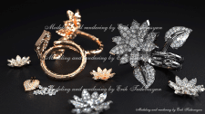 Van Cleef Arpels Lotus ring rendering