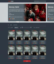 Верстка главной страницы портала с фильмам