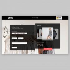 Design a credit card checkout form