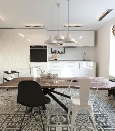 Визуализация кухни в квартире для семьи из 3 чел.
