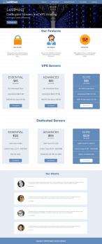Верстка Landing Page по продаже выделенных серверо