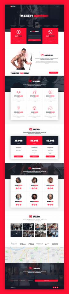 ReAction - Landing Page Design