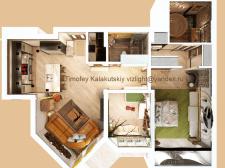 3D визуализация планировки квартиры