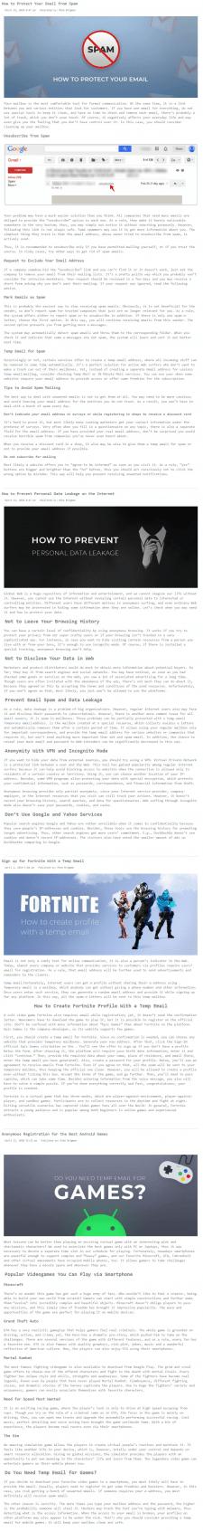 IT, EN | Временный имейл one-off.email