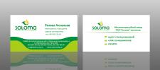 Визитка для компании Солома