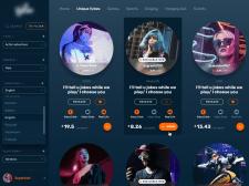 Интерфейс игрового веб-приложения
