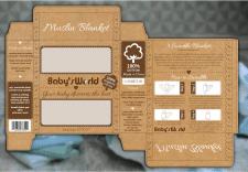 Дизайн коробки для детских муслиновых пеленок