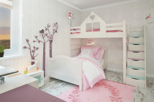 Дизайн проект детской в скандинавском стиле