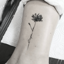 тату цветок tattoo flower