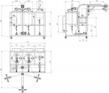 Схема 3-х компонентной ПУ установки