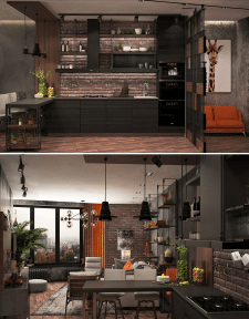Studio apartment in loft style_2