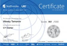 Certificate C# - Testprovider