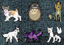 Пиксельные иконки персонажей