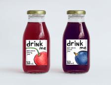 Дизайн етикетки для уявного бренда соків