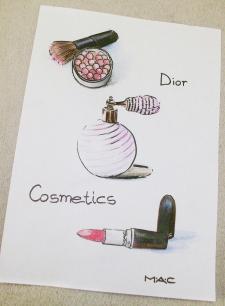 Фенш иллюстрации (цветные карандаши + маркер)