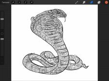 Разработка  иллюстрации на футболку, кобра