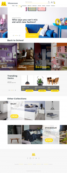 Landing page for Mixmyroom