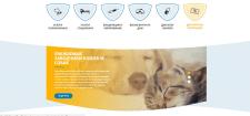 Верстка сайта ветеренарной клиники
