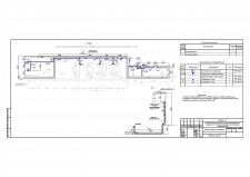 План прокладки сети газосигнализации в насосной