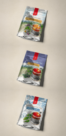 Дизайн и отрисовка макетов для упаковок чая.
