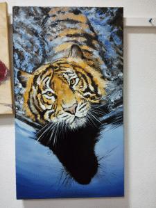 тигр. 40*70 см.
