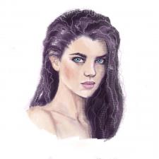 Растровый портрет девушки