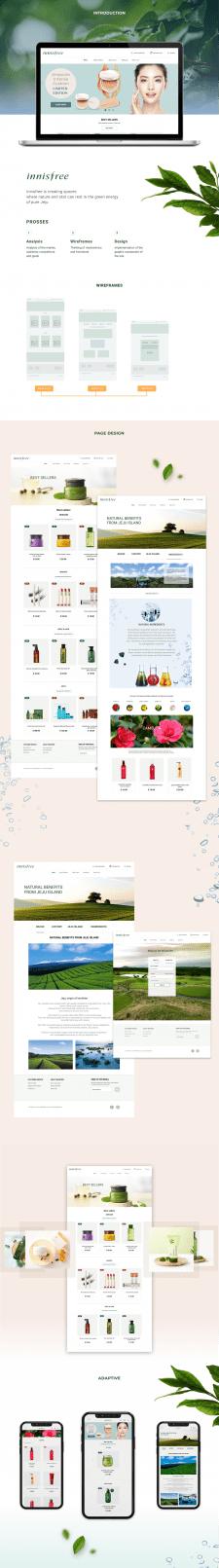 Korean cosmetics store website design