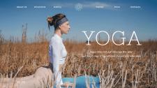 Дизайн и верстка сайта для студии по йоге