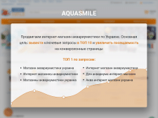 "SEO-продвижение сайта ""Aquasmile"""